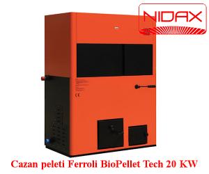 poza cazan pe peleti pentru incalzire centrala BioPellet Tech 20 KW