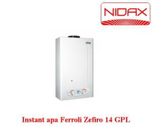 poza Aparat instant de apa pe gaz Zefiro 14 l FERROLI GPL