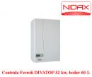Foto Centrala termica cu tiraj fortat Ferroli DIVATOP 60F32cu boiler inox 60 l(32 KW)