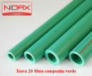 Foto Teava 20 fibra compozita verde