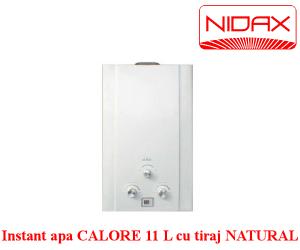 instant apa CALORE 11L TIRAJ NATURAL Gaz natural |