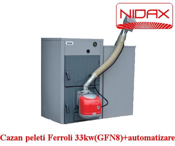 Cazan pe peleti  Ferroli 33 kw (GF N 8) + automatizare