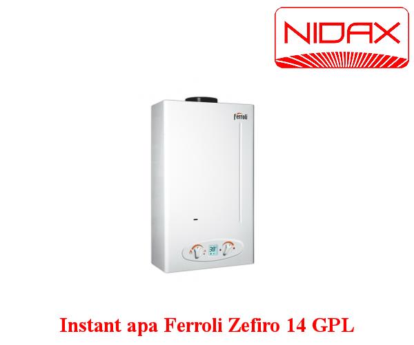 Aparat instant de apa pe gaz Zefiro 14 l FERROLI GPL