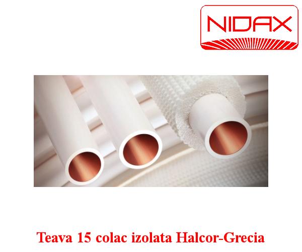 Teava 15 colac izolata Halcor-Grecia