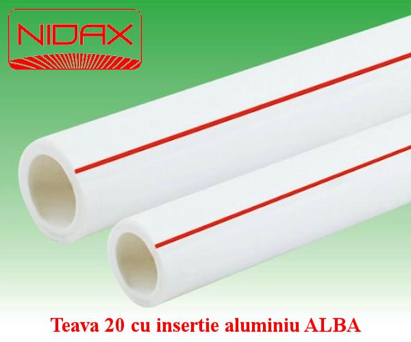 Teava 20 cu insertie aluminiu ALBA
