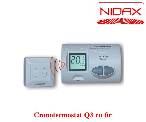 cronotermostat Q3 cu fir