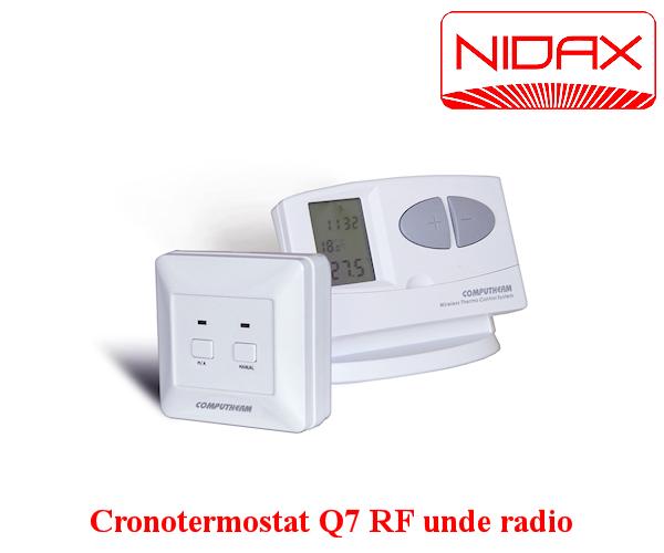 cronotermostat Q7 RF cu unde radio