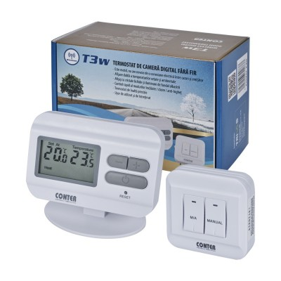 Termostat de camera digital fara fir CONTER T3 W