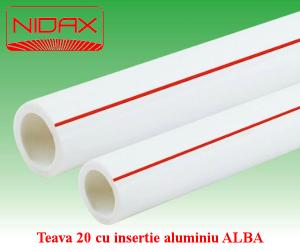 poza Teava 20 cu insertie aluminiu ALBA