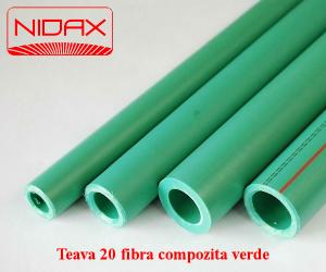 poza Teava 20 fibra compozita verde