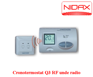 poza cronotermostat Q3 RF cu unde radio